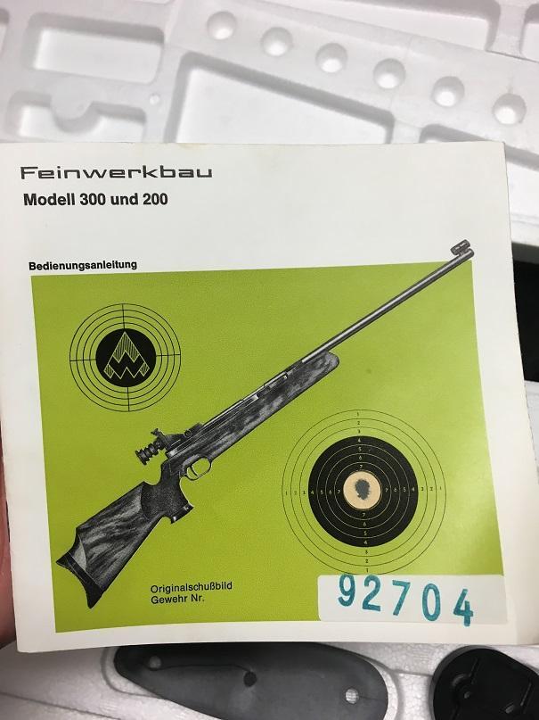 Feinwerkbau 300 Information/Value/Sell | Airgun Talk