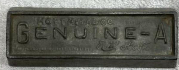 Screenshot 2021 06 12 Vintage Hoyt Metal Company St louis Genuine  A Metal Signature Babbitt eBay