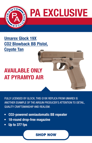 Pyramyd Airgun Mall | Glock 19X Blowback Pistol