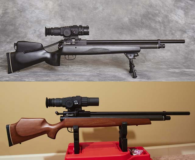 Marauder Stock modified for Night Vision scope | Wood Shop
