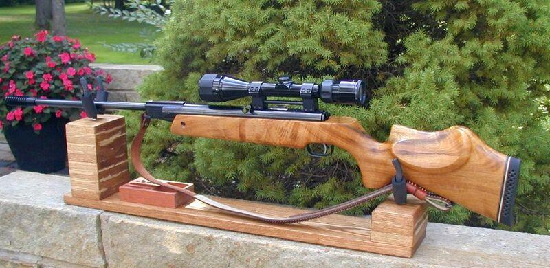 FWB 124 in KJH Rifle Cradle 1