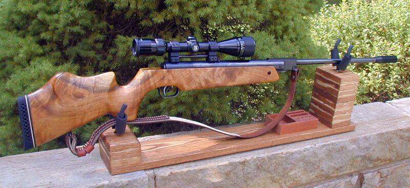 FWB 124 in KJH Rifle Cradle 2