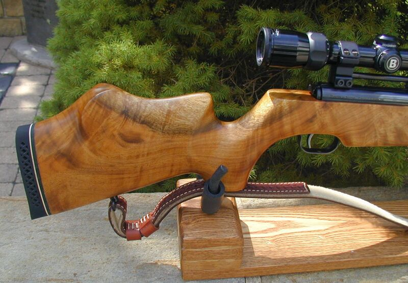 FWB 124 in KJH Rifle Cradle 4